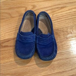 Jacadi blue with yellow sole loafers